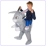 Inflatable Rabbit Piggyback Animal Farm Children's Fancy Dress Costume