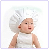 Newborn Baby Chef Outfit Clothes