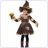 Pumpkin Patch Scarecrow Toddler Costume, Medium (3-4)