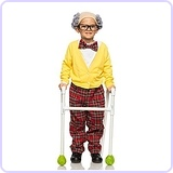 Toddler Old Man Grandpa Costume
