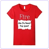 Fire Hot Sauce Packet T-shirt, Medium Red