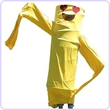 Wacky Waving Arm Flailing Tube Dancer Costume - Tango Snuggles - Yellow