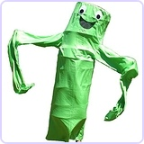 Wacky Waving Arm Flailing Tube Dancer Costume - Salsa Verde - Green