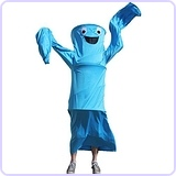 Wacky Waving Arm Flailing Tube Dancer Costume - Blue Danube - Blue