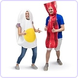Bacon & Egg Breakfast Adult Couple's Costume