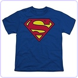 Superman Classic Logo Youth Boys T-shirt
