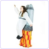 Adult Inflatable Jetpack Fancy Dress Costume