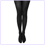 Womens Semi Opaque 80 Denier Footed Pantyhose Tights