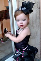baby girl in Lady Gaga costume