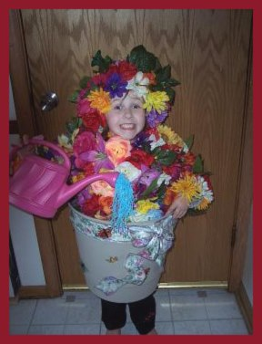 Flower Pot home made costume for girls