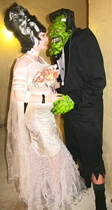Frankenstein and Bride of Frankenstein Couple Costume