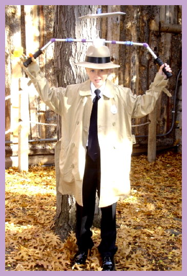Homemade Inspector Gadget Costume for Boys