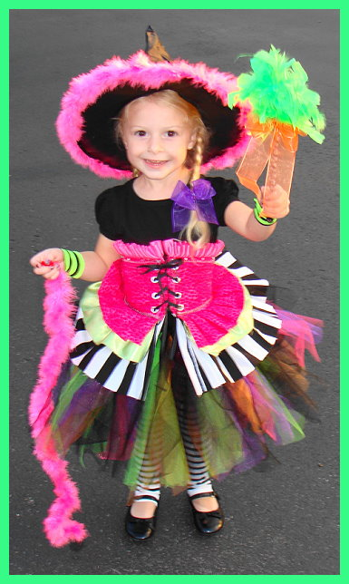 Homemade Witch Costume for Girls