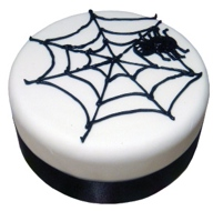 Halloween Cake with Spider