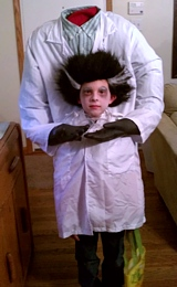 Headless Scientist Halloween Costume Idea for Kids