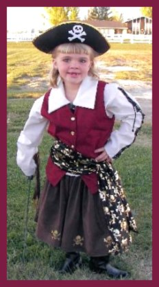 Homemade Pirate Costume for Girl