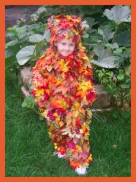 Homemade Halloween costume - A Pile of Autumn Leaves