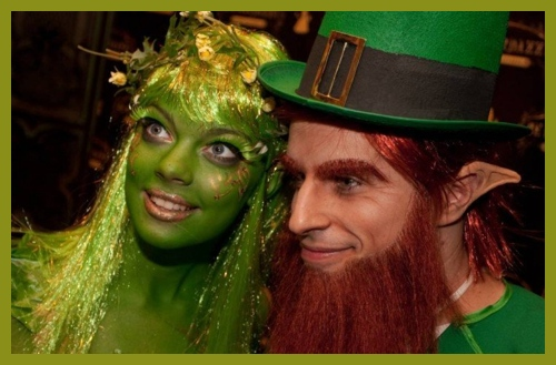 Leprechan with girlfriend St. Patrick Day costumes