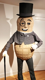 Homemade Mr. Peanut Mascot Costume