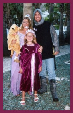 Family in Renaissance costumes