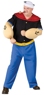 Popeye Mens Big and Tall Costume