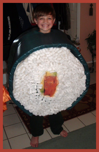 Homemade Sushi Costume for kids
