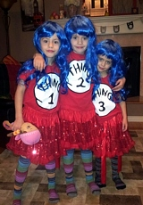 Thing 1, Thing 2, Thing 3 - Creative Costume Idea for Kids