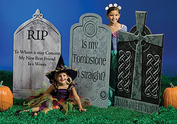 Traditional Tombstones Set